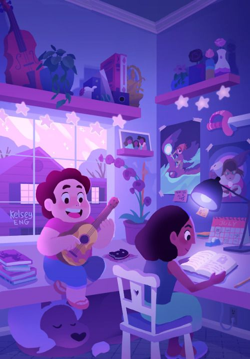 Kelseyeng What I Imagine Connie S Room Would Look Like Some Fun Fanart For Steven Univers Steven Universe Wallpaper Steven Universe Movie Steven Universe