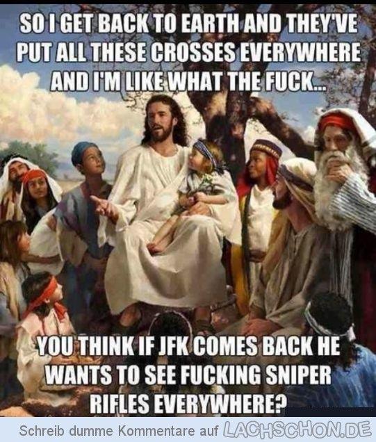 Jesus wieder mal - jesus,kreuze,crosses,jfk,john f. kennedy,sniper rifles,gewehre