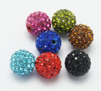 Elegant Grade A Rhinestone Beads Polymer Clay by N2BEADZNMORE, $8.40