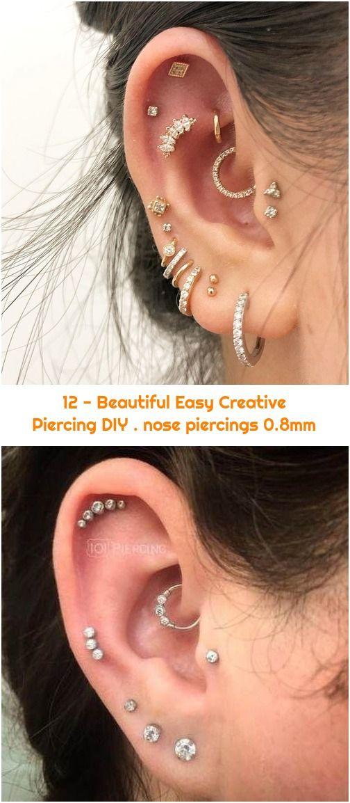 12 Beautiful Easy Creative Piercing Diy Nose Piercings 0 8mm In 2020 Piercings Unique Nose Piercing Piercing