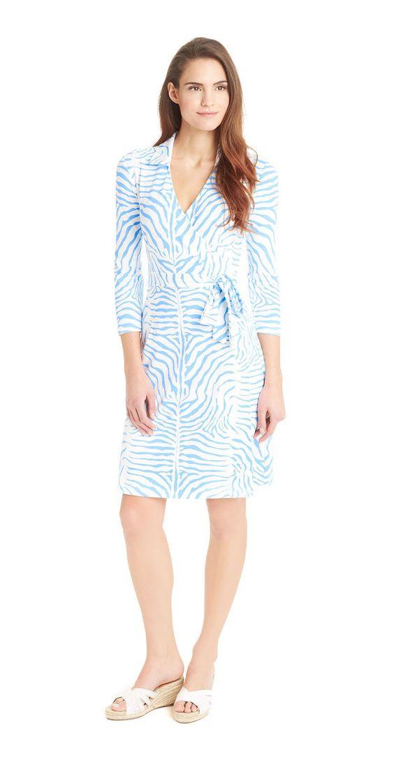 Lila Wrap Dress In Zebra