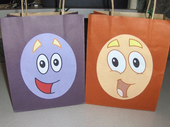 The Activity Mom: Dora and Diego Party Favor Bags (Printable)