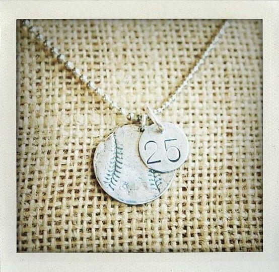 Baseball Necklace. LOVE it!