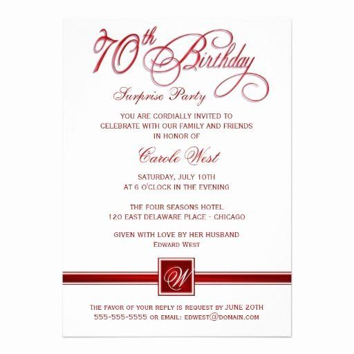 70th Birthday Party Invitation Wording Lovely 70th Birthday Surprise Surprise Party Invitations Birthday Party Invitation Wording Birthday Invitation Templates