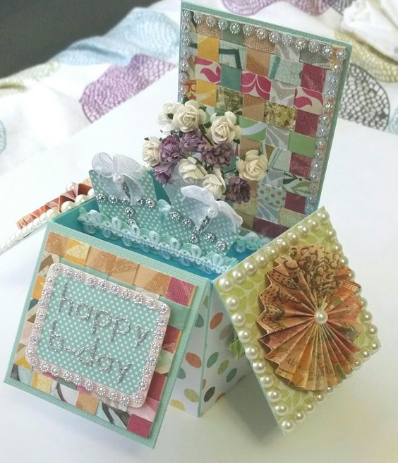 Birthday box card