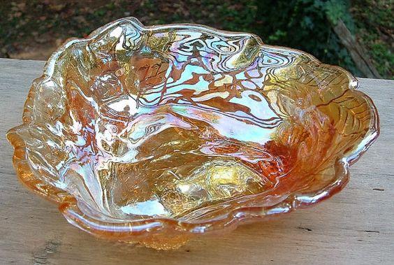 ZERO SHIPPING  Vintage Indiana Glass Amber by RusticWayLane