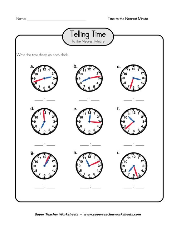 clock telling time worksheet printable printable worksheets for telling time pdf teacher. Black Bedroom Furniture Sets. Home Design Ideas