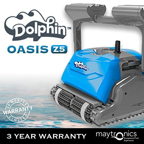 Dolphin Oasis Z5 Robotic Pool Cleaner With Caddy And Remote Best Robotic Pool Cleaner Pool Cleaning Robotic Pool Cleaner