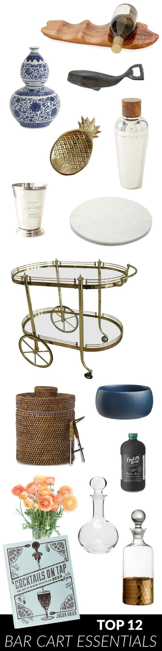 Top 12 Bar Cart Styling Essentials // via StyleInSimplicity.com