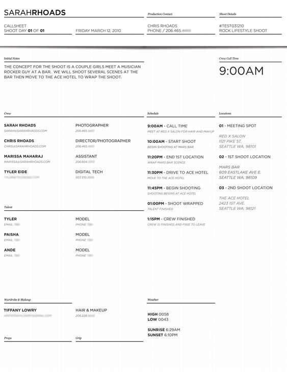 Call Sheet Template Docstoc Docs Fashion Pinterest Template - phone sheet template