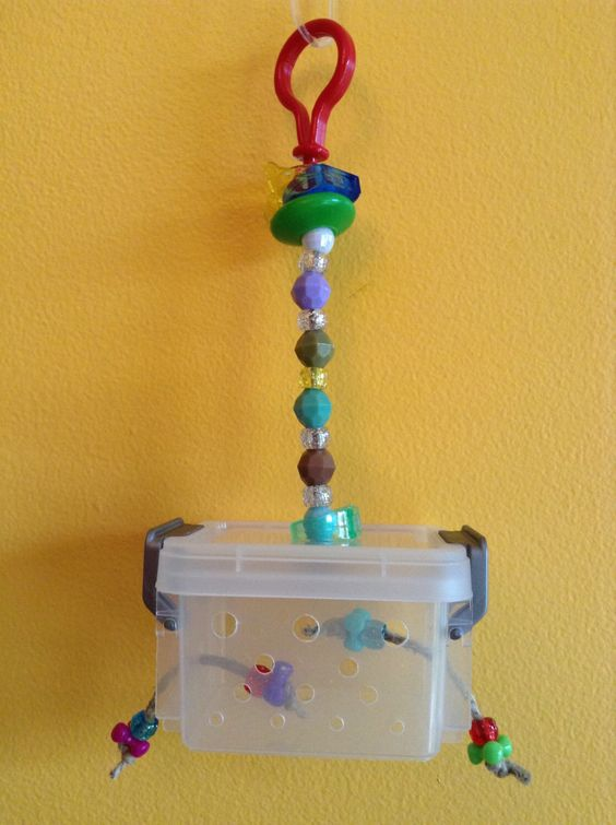 BIRD TOY / Small FORAGING Crate by PerchPotato on Etsy https://www.etsy.com/listing/229888050/bird-toy-small-foraging-crate
