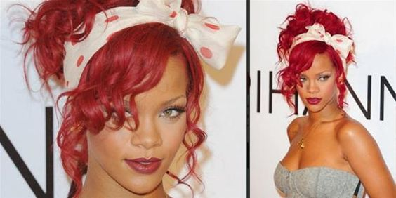 Get the look: 80's pin-up hair like Rihanna's in 3 easy steps!