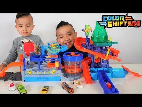 Mega Car Wash Hot Wheels Color Shifters Color Splash Science Lab Playset Ckn Toys Youtube Color Splash Birthday Card Drawing Playset