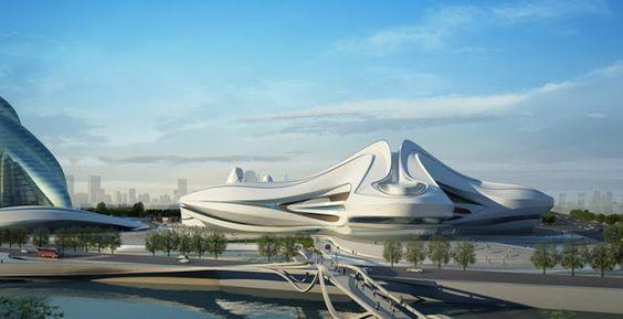 zaha hadid: changsha meixihu international culture and art center ~ DesignDaily