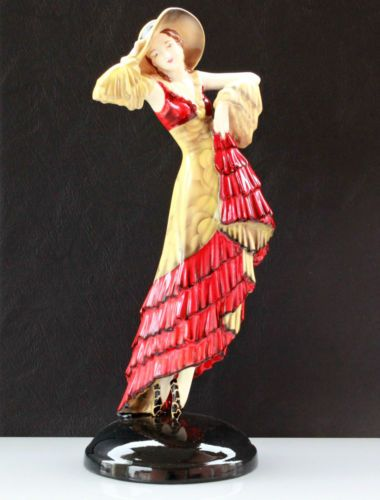 GOLDSCHEIDER-WIEN-FIGUR-TANZERIN-ART-DECO-HAND-DECORATED-MANUFAKTUR-VIENNA