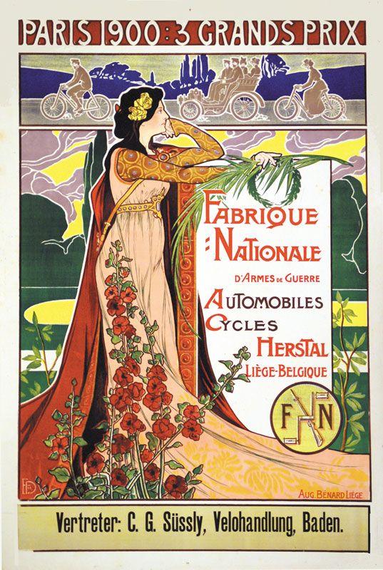 Vintage Event/Travel Poster by Dupuis Emile: The 3rd Grand Prix, Paris 1900