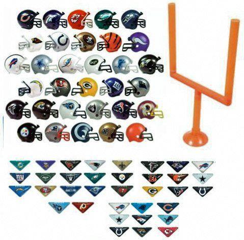 2017 Nfl Helmet Set All 32 Teams Mini Football 2 Inch Helmets Plus 12 Random Tabletops 1 Goal Post Super Packers Cowboys Eagles Steelers Cowboys Eagles
