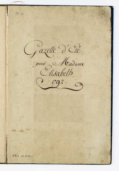 Tea at Trianon: Madame Elisabeth's Wardrobe Book: