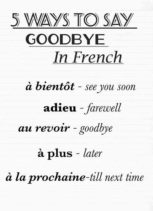 """""""Goodbye"""":"""