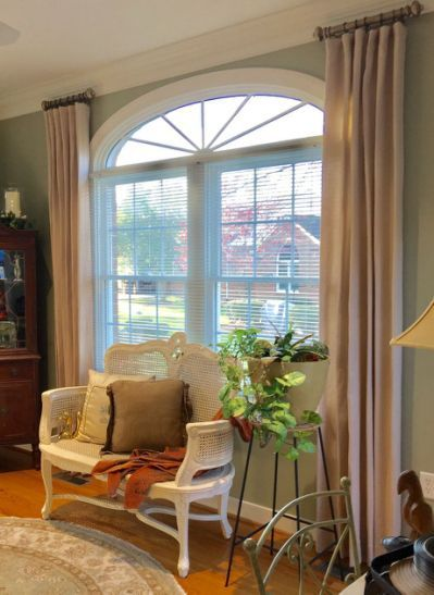 25 Best Ideas About Arched Window Dining Room Window Treatments Curtains For Arched Windows Arched Window Treatments