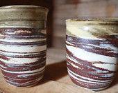 Marbled Tumbler - Coffee Mug - Mug - Coffee - Tumbler - Handcrafted - Pottery Mug - Rustic - Marbled Clay - Wheel Thrown - KJ Pottery