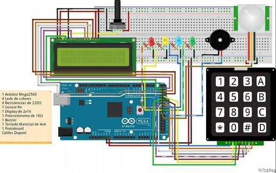 #Sistema de #intrusismo para #domotica #home #security #system #arduino #iot by proyectoteos