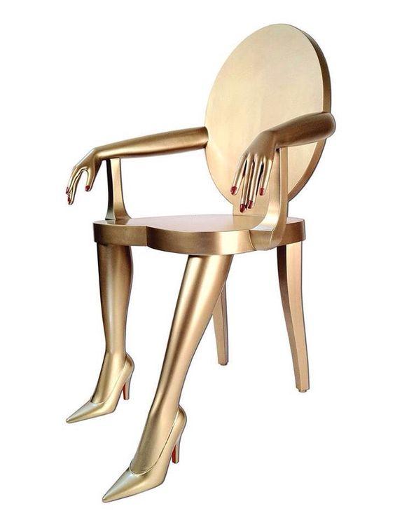 Otra súper diseño de silla bien femenina no?