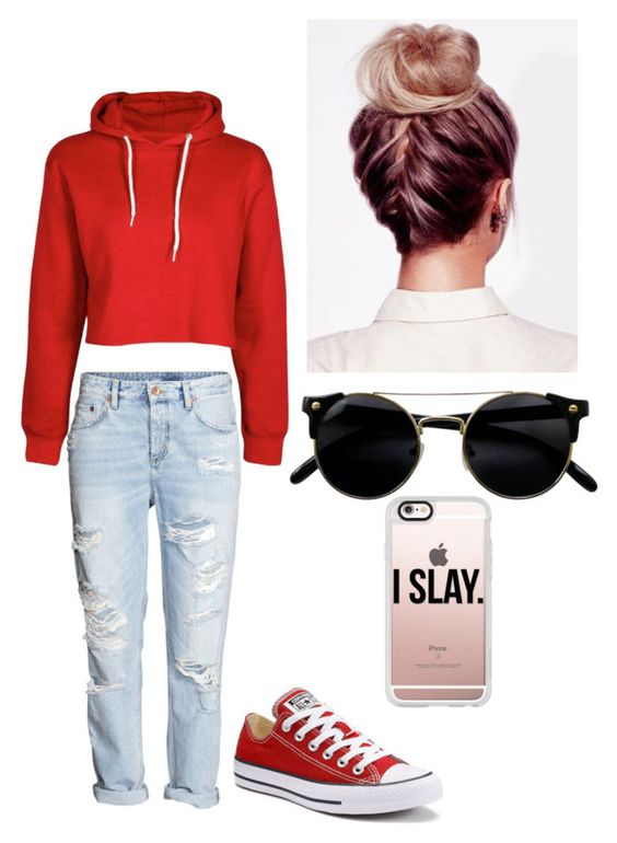 """Untitled #3"" by jayyyy15 on Polyvore featuring H&M, Converse and Casetify"