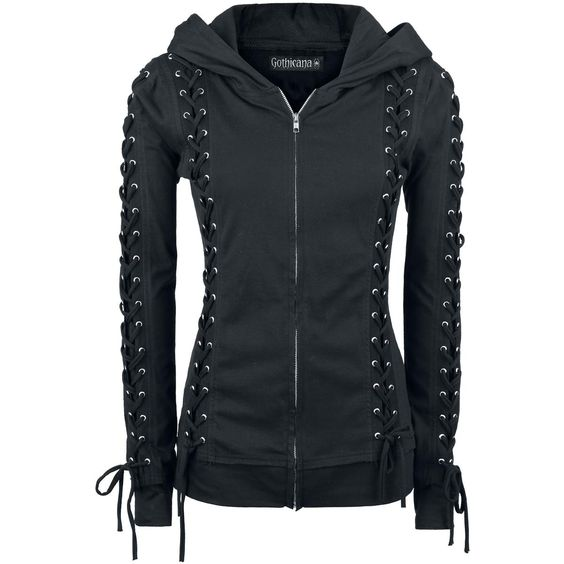Corded Hood - Girls hooded zip by Gothicana by EMP - Article Number: 274786 - from 39.99 € - EMP Merchandising ::: The Heavy Metal Mailorder ::: Merchandise Shirts and More