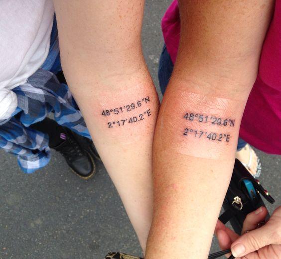 My tattoo I got today. Eiffel Tower coordinates done at Paris Tattoo in Charlotte NC. Ironic