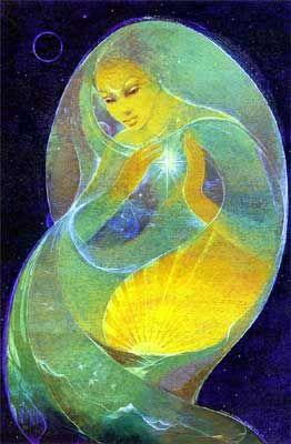 Susan Seddon Boulet - Goddess  Untitled (Selene) » alias Inside the Dream - May 1979  (couverture du calendrier Engagement 2003) Séléné, reine des cieux étoilés et déesse de la lune  dans la Grèce archaïque