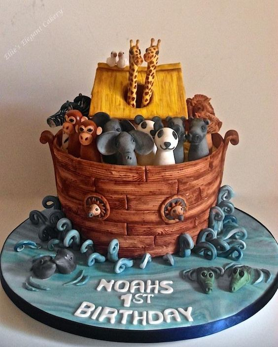 Noahs Arc cake for little Noah :) - Cake by Ellie @ Ellie's Elegant Cakery: