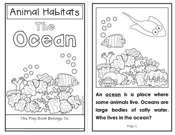 animal habitats the ocean a flap book project for grades 1 2 student the o 39 jays and texts. Black Bedroom Furniture Sets. Home Design Ideas