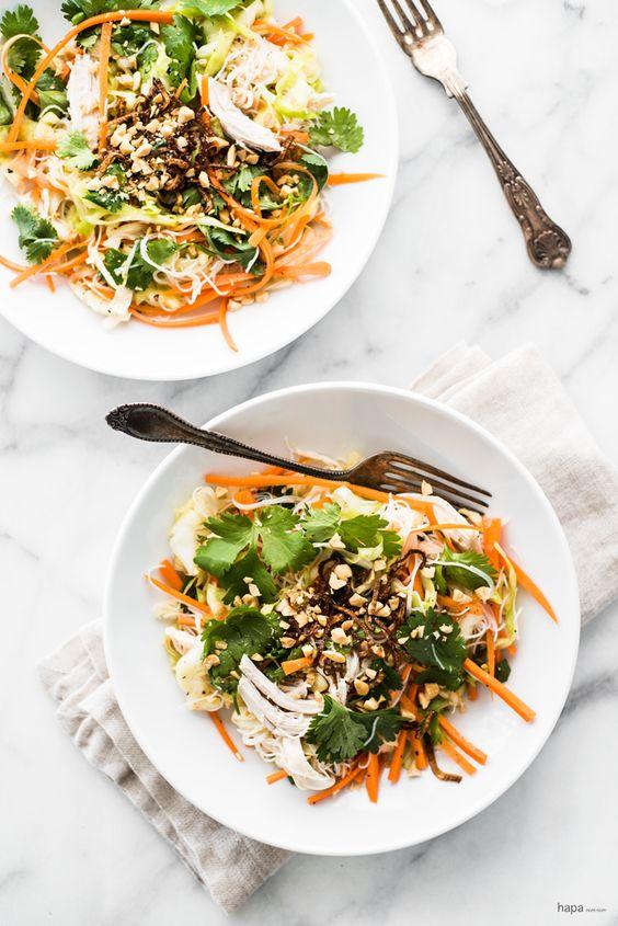 Vietnamese chicken salad, Poached chicken and Chicken salads on ...