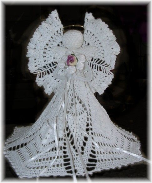 Free Crochet Patterns Christmas Tree Topper : Crochet angels, Christmas crochet patterns and Crochet on ...