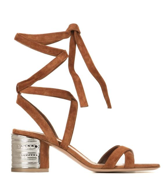 mytheresa.com - Muna suede sandals - Luxury Fashion for Women / Designer clothing, shoes, bags