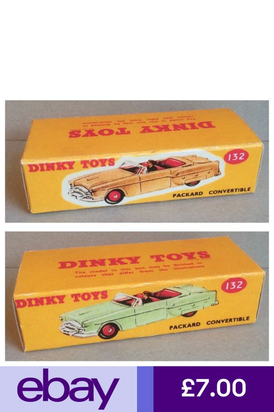 Dinky 132 Packard Convertable Empty Repro Box Only
