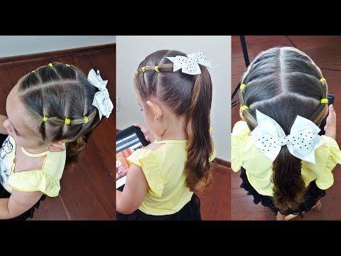 Penteado Infantil Fácil Com Ligas E Amarração Para Escola