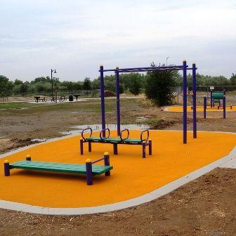 Outdoor Fitness Equipment Park Community Trail Clovis California CA