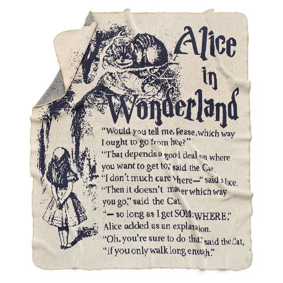 ALICE IN WONDERLAND STORYBOOK BLANKET:
