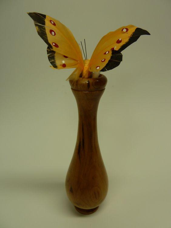 Small Walnut Bud Vase