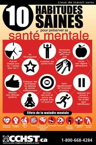 10 habitudes saines pour préserver sa santé mentale