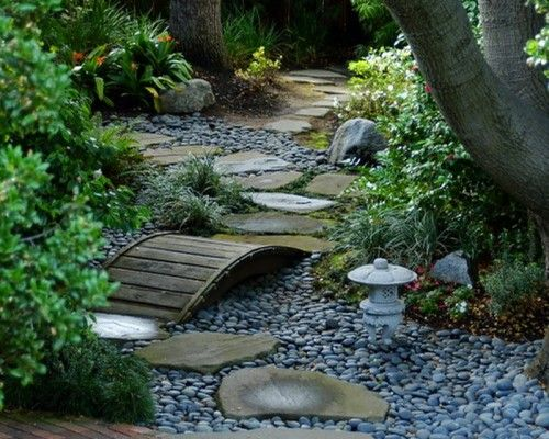 small river rock garden patio landscape best patio design ideas - River Rock Design Ideas