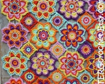 Octagon Baby Afghan Crochet Pattern : Gardens, Patrones and Embroidery on Pinterest