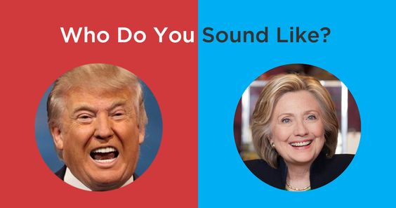 The Donald Test  A.I. that tells you if you sound more like Trump or Hillary