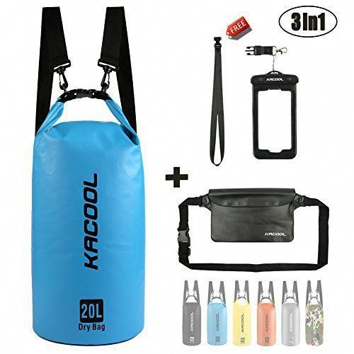 Waterproof Dry Bag Pack Kayaking Fishing Camping Beach Swimming Rafting 20L Blue