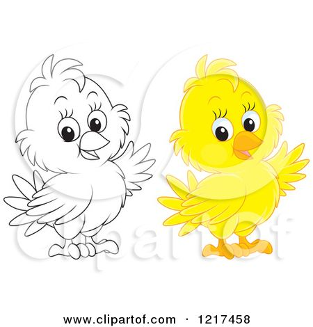 baby chick holding a candlestick image Royalty Free