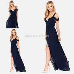Vestido azul marino Bariano océano Elegance de gasa envío gratis WL282|Aliexpress Mobile