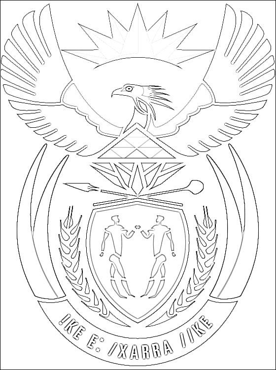 zambia coat of arms coloring pages - photo #9