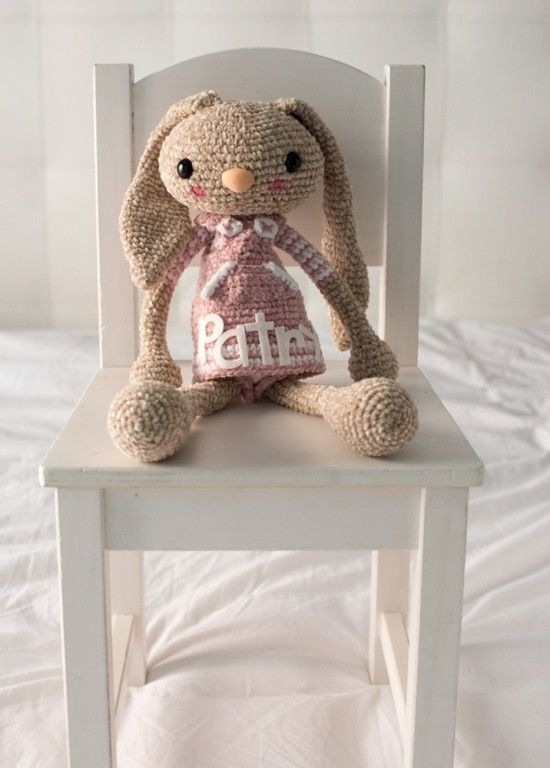 Free Crochet Pattern For Bunny Pin : Free crochet, Bunnies and Projects on Pinterest